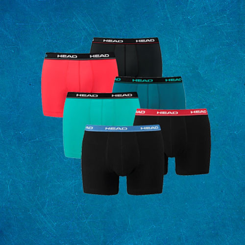 HEAD Boxershorts Verrassingspakket 6-Pack