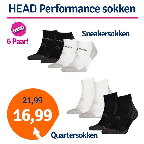 Dagaanbieding - Dagaanbieding HEAD Performance Quarter- of Sneakersokken dagelijkse koopjes