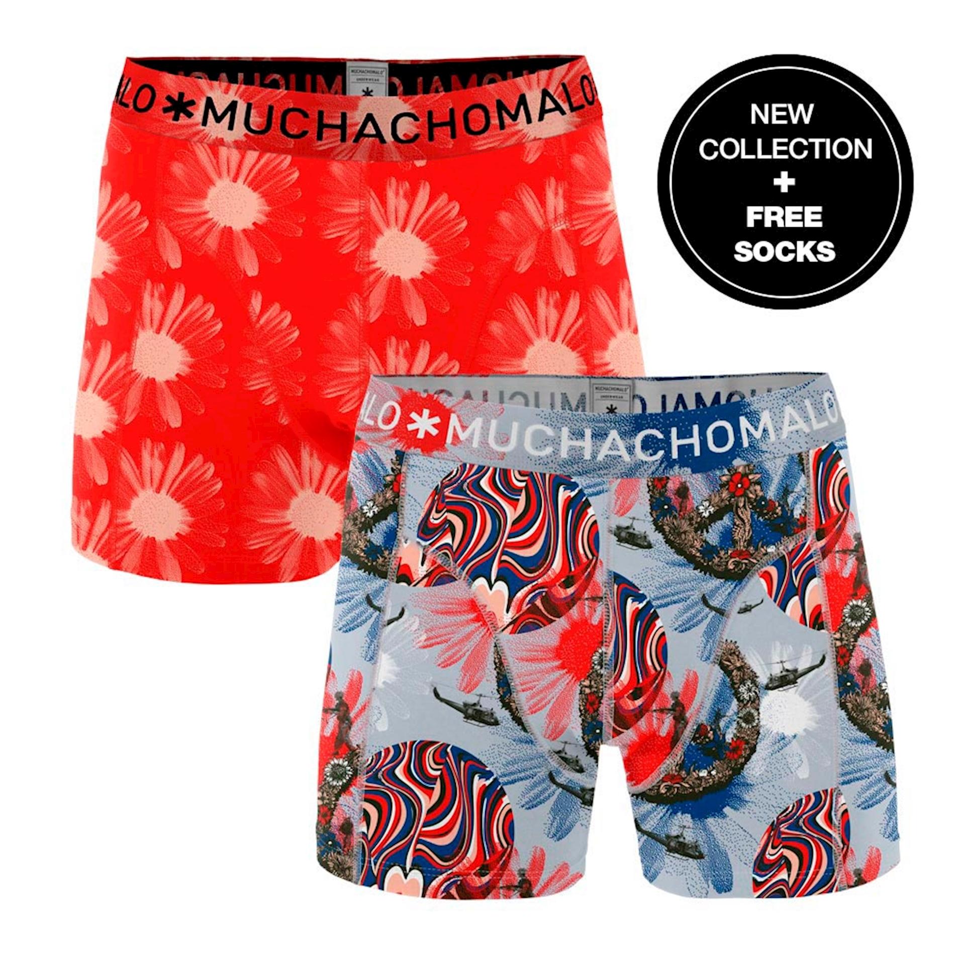 Muchachomalo Boxershorts Flower Power 2-pack + gratis sokken-XL