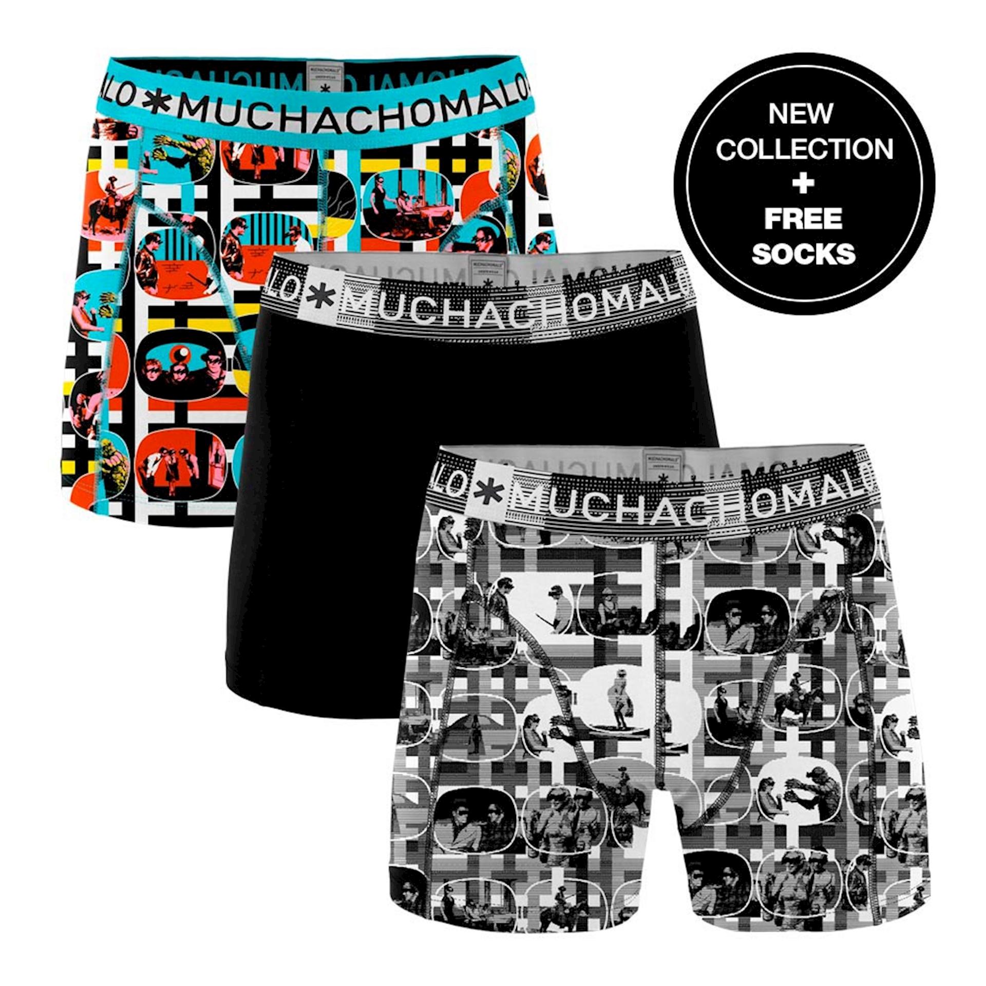 Muchachomalo Boxershorts Color Television 3-pack + gratis sokken-XXL